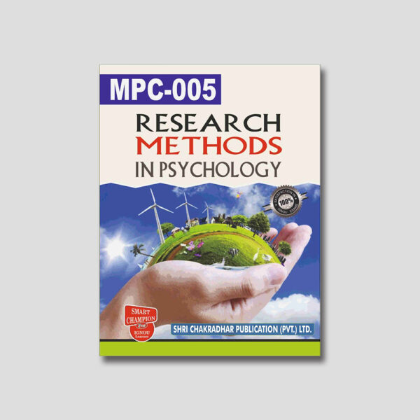 IGNOU MPC 005 Help Book (Research Methods In Psychology)