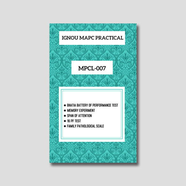 IGNOU MPCL 007 Practical