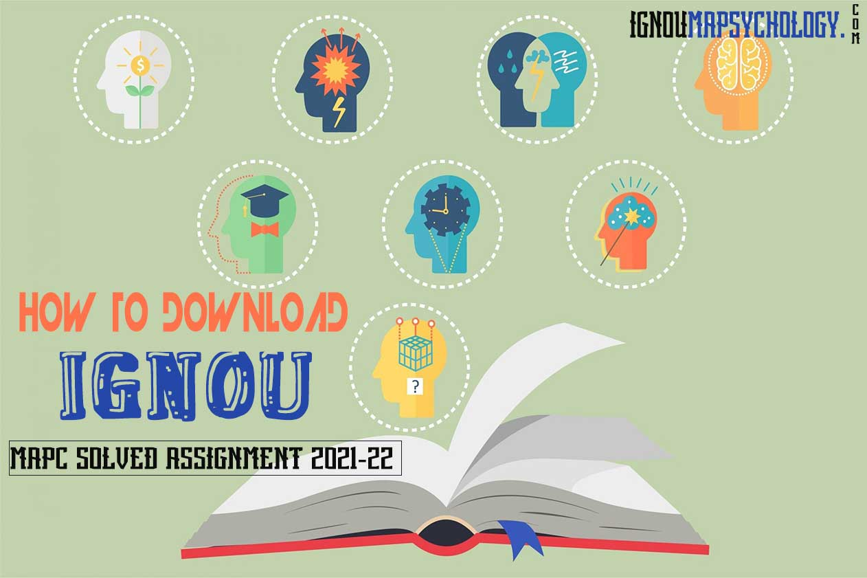 IGNOU MAPC Solved Assignment 2021-22